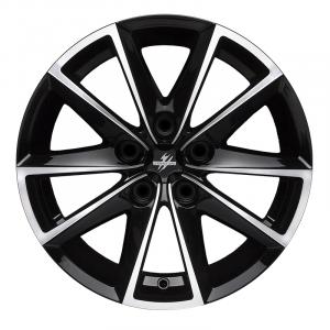 Cerchi in lega  Fondmetal  7600  17''  Width 7.50   5x108  ET 45.00  CB 67.2 Ring Seat    Glossy Black Machined