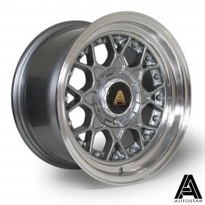 Cerchi in lega  Autostar  Sprint  15''  Width 8   4x108~4x100  ET 10  CB 67,1    RLGunmetal