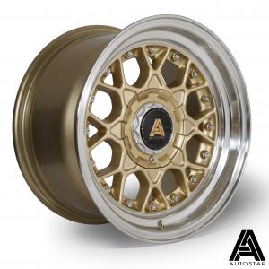 Cerchi in lega  Autostar  Sprint  15''  Width 8   4x108~4x100  ET 10  CB 67,1    RLGold