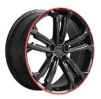 Cerchi in lega  2017 GT TDI  Dedica  VW & SKODA  19''  Width 8   5x112  ET 45  CB 57.1    GLOSS BLACK / RED EDGE