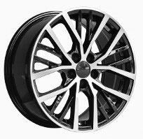 Cerchi in lega  POLO GTI  Dedica  VW & SKODA  17''  Width 7.5   5x100  ET 35  CB 57.1    BLACK / POLISHED