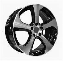 Cerchi in lega  2013 GTI  Dedica  VW & SKODA  18''  Width 7.5   5x112  ET 45  CB 57.1    BLACK / POLISHED