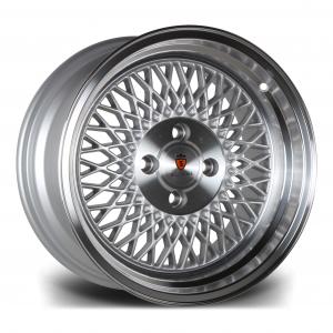 Cerchi in lega  Stuttgart  ST1  15''  Width 8   4X100  ET 25  CB 73.1    Silver Polished Lip