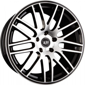 Cerchi in lega  TEC-Speedwheels  GT1  22''  Width 9,5   5x112  ET 45  CB 66,6    Schwarz-Glanz-Frontpoliert