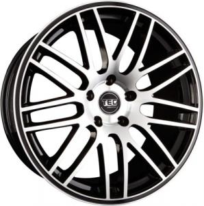 Cerchi in lega  TEC-Speedwheels  GT1  22''  Width 9,5   5x130  ET 50  CB 71,5    Schwarz-Glanz-Frontpoliert