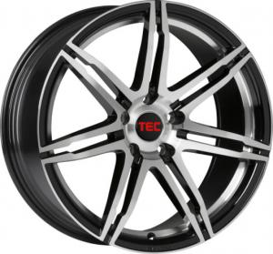 Cerchi in lega  TEC-Speedwheels  GT2  19''  Width 8   5x115  ET 40  CB 70,2    Schwarz-Glanz-Frontpoliert