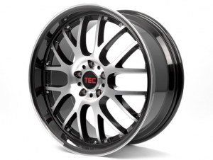 Cerchi in lega  TEC-Speedwheels  GT-AR1  19''  Width 9,5   5x114,3  ET 25  CB 72,5    Schwarz-Glanz-Frontpoliert