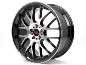 Cerchi in lega  TEC-Speedwheels  GT-AR1  19''  Width 9,5   5x120  ET 20  CB 74,1    Schwarz-Glanz-Frontpoliert