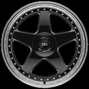Cerchi in lega  TEC-Speedwheels  GT EVO-R  19''  Width 8,5   5x108  ET 45  CB 72,5    schwarz-glanz-hornpoliert