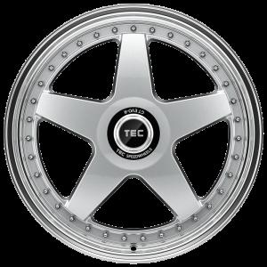 Cerchi in lega  TEC-Speedwheels  GT EVO-R  19''  Width 8,5   5x114,3  ET 45  CB 72,5    hyper-silber-hornpoliert