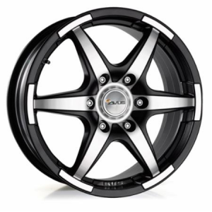 Cerchi in lega Avus  GRIZZLY  17''  Width 7   6x130  ET 60  CB 84,1    Matt Black Polished