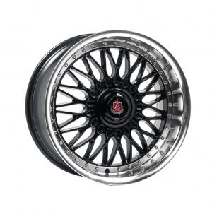 Cerchi in lega  AXE  EX10  18''  Width 9   5x120  ET 40  CB 74.1    Black & Polished Lip