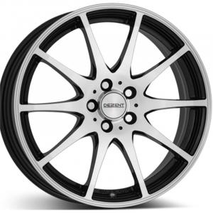 Cerchi in lega  DEZENT  TS dark  15''  Width 5   4x100  ET 38  CB 60,1    Black/polished