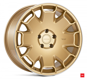 Cerchi in lega  Ispiri  CSR2  19''  Width 8,5   5x112  ET 42  CB 66.56    Vintage Gold Polished Lip