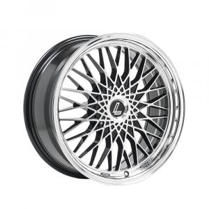 Cerchi in lega  LENSO  EAGLE 3  17''  Width 7.5   5x118  ET 35  CB 72.6    Black Polished & Mirror Dish
