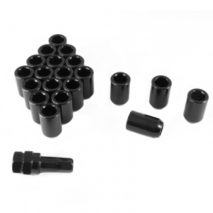 Set of BLACK imbus lug nuts 12x1,25 + Key