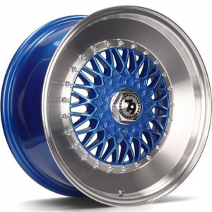 Cerchi in lega  79Wheels  SV-F  15''  Width 7   8x100/114  ET 30  CB 67,1    Blue Polished Lip