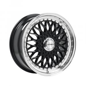 Cerchi in lega  LENSO  BSX  17''  Width 8.5   4x100  ET 15  CB 73.1    Black & Mirror Dish