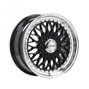 Cerchi in lega  LENSO  BSX  17''  Width 8.5   4x100  ET 25  CB 73.1    Black & Mirror Dish