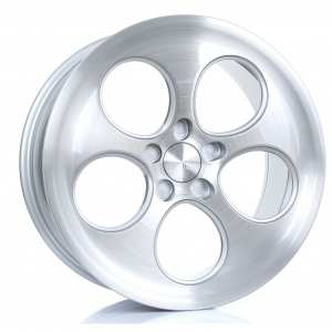 Cerchi in lega Bola  B5  18''  Width 9.5   5X120  ET 40 TO 45  CB 72,6  Silver Brushed Polished Face