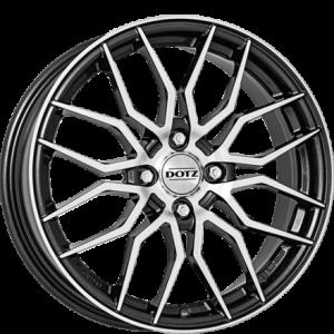 Cerchi in lega  DOTZ  LimeRock dark  17''  Width 7   4x100  ET 44  CB 60,1    Gunmetal/polished