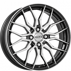 Cerchi in lega  DOTZ  LimeRock dark  17''  Width 7   4x100  ET 45  CB 60,1    Gunmetal/polished
