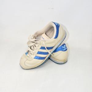 Scarpe Unisex Adidas Beige/blu N40 2/3 In Pelle