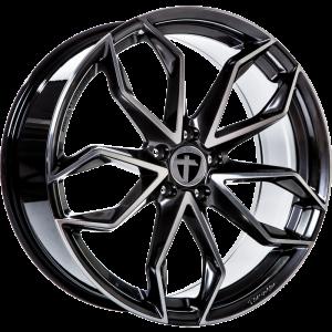 Cerchi in lega  TOMASON  TN22  18''  Width 8   5x100  ET 40  CB 63,4    Dark Hyper black polished