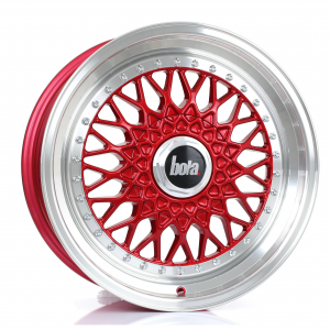 Cerchi in lega Bola  TX09  17''  Width 7.5   5X120  ET 20 TO 38  CB 73,1  Candy Red Polished Lip