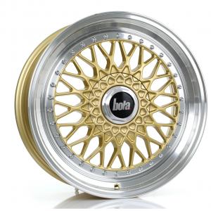 Cerchi in lega Bola  TX09  18''  Width 8   5X120  ET 20 TO 38  CB 73,1  Gold Polished Lip