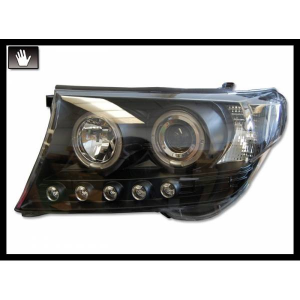Fanali Day Light Toyota Land Cruiser F J200 08 Black H1-H1