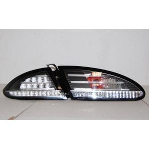 Fanali Posteriori Seat Leon '05-'08 Led Black/Chrome Lampeggiante Led