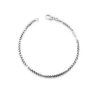 Bracciale Add in argento con moschettone ed elemento in argento