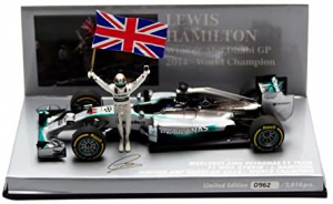 Mercedes AMG Petronas F1 Team Louis Hamilton Winner Abu Dhabi World Champion 2014 1/43