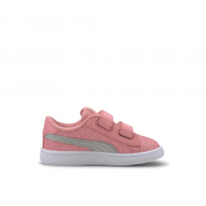 Puma Smash Glitter Pink Junior