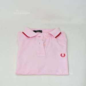 Polo Donna Rosa Fred Perry Tg M Cotone