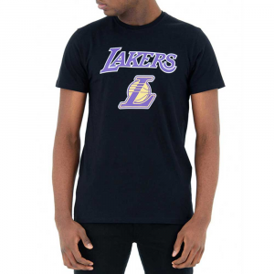 New Era Lakers T Shirt Black da Uomo