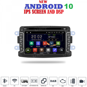 ANDROID 10 autoradio navigatore per Dacia Duster Logan Sandero Dokker Lodgy Renault Duster GPS DVD WI-FI Bluetooth MirrorLink