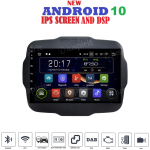 ANDROID 10 autoradio navigatore per Jeep Renegade 2014-2018 GPS WI-FI Bluetooth MirrorLink