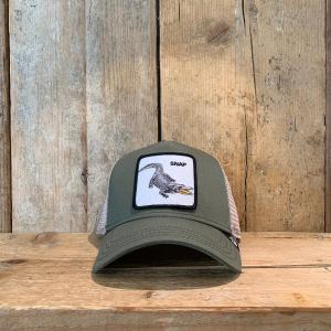 Cappellino Goorin & Bros con Coccodrillo Verde Militare e Beige