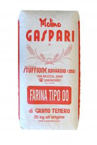 Farina artigianale tipo 00 di grano tenero italiano, Formato da 25 KG