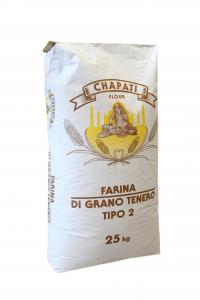 Farina artigianale tipo 2 di grano tenero italiano, Formato da 25 KG