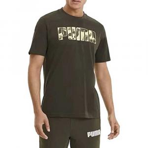 Puma T Shirt Logo Camouflage da Uomo