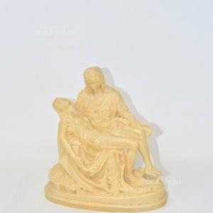 Statua In Pasta 'la Pietà' Di Michelangelo 23 Cm