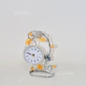 Orologio Quartz Con Foglie Arancioni