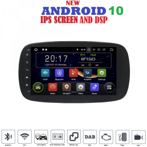 ANDROID 10 autoradio navigatore per Smart Fortwo W453, Smart ForFour 2014 - 2019 GPS WI-FI Bluetooth MirrorLink
