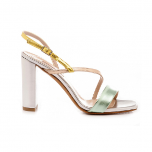 Sandalo argento/multicolor Albano