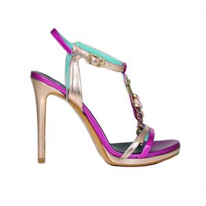 Sandalo fuxia/multicolor Albano