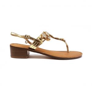 Sandalo platino con decorazioni Gardini