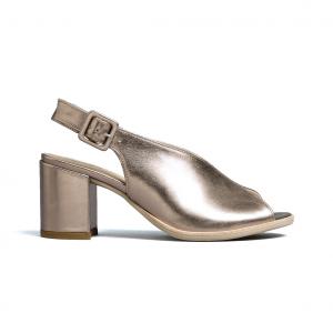 Sandalo bronzo con scollo a V Nero Giardini